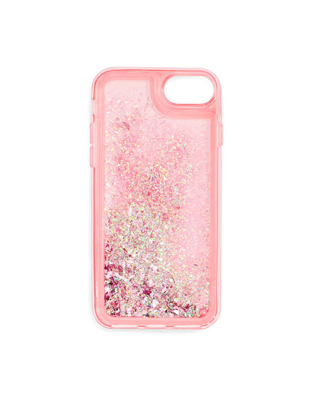 Interior view of pink stardust iPhone case