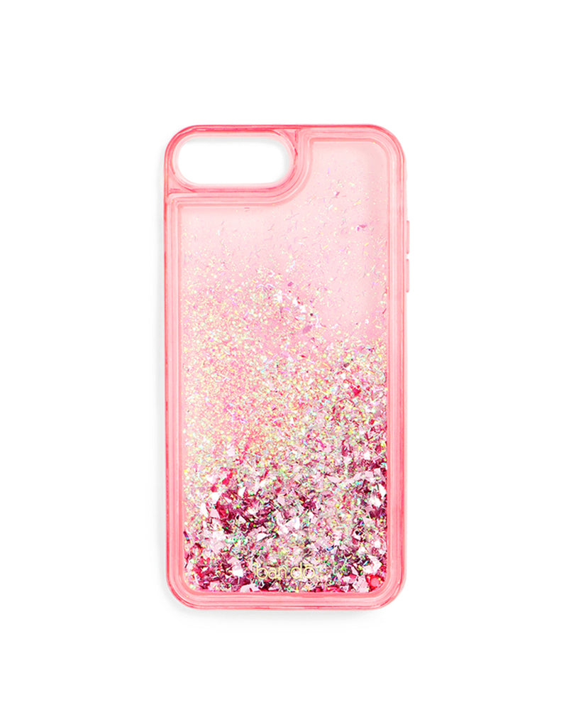 glitter bomb iphone plus case - pink stardust