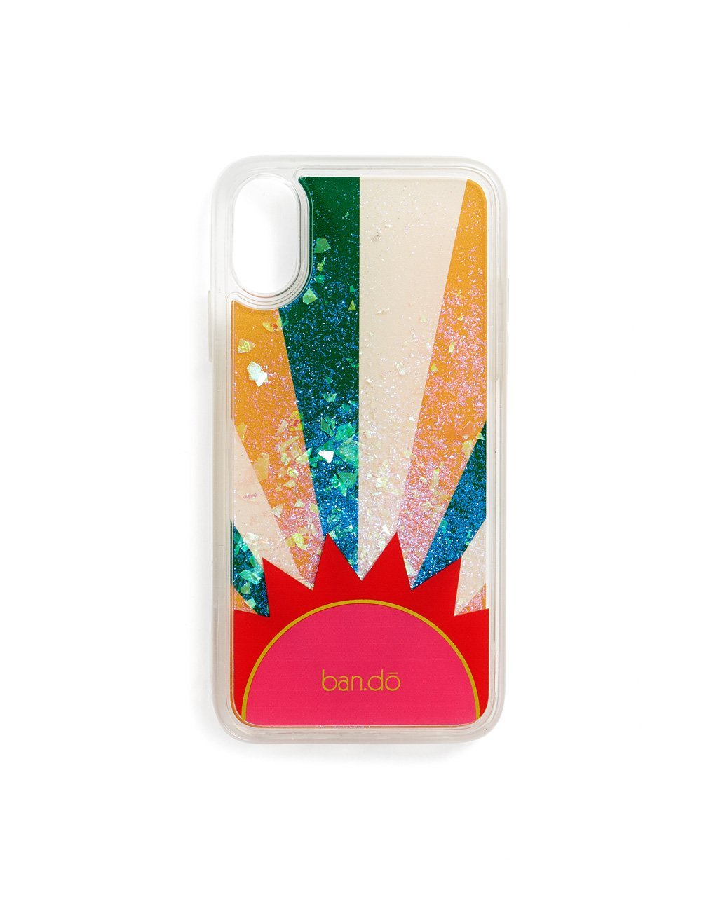 Sunshine & Rainbow glitter X/XS iPhone case