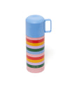 12 oz. capacity rainbow stainless steel thermos.
