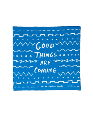 scarf - good things are coming