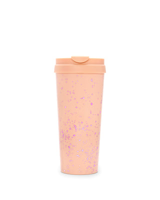 hot stuff thermal mug - speckle apricot