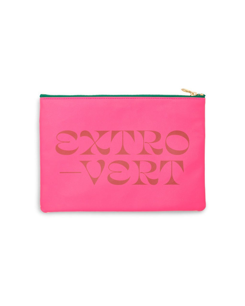 Back side leatherette clutch with opposite design