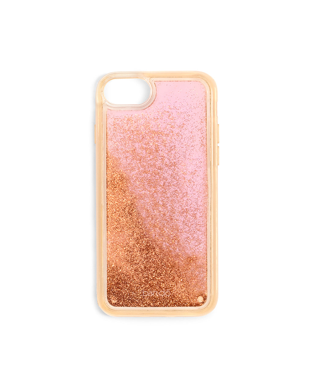 Apricot iPhone case with metallic glitter