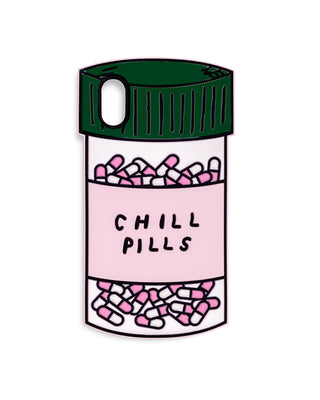 silicone iphone X case - chill pills