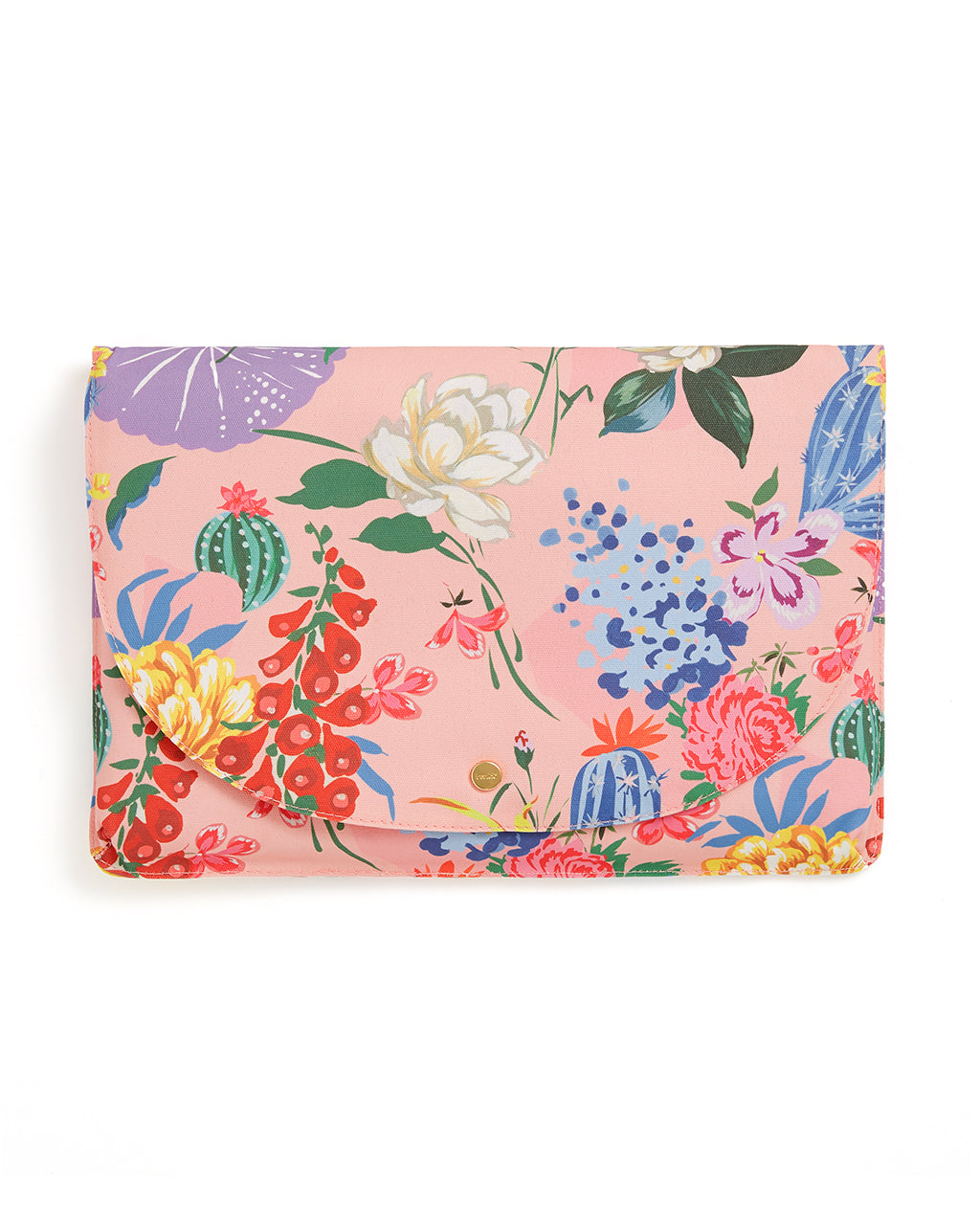 This Logged On Laptop Sleeve comes in a pink floral pattern.