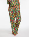 emerald super bloom leisure pants with side seam pockets