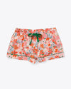 bright multi color floral leisure shorts