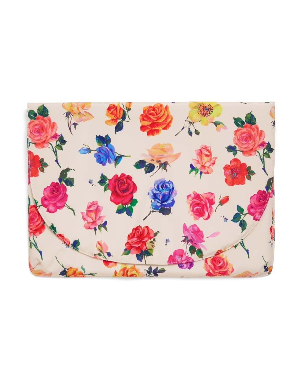 This Logged On Laptop Sleeve comes in colorful floral pattern designed by Helen Dealtry.