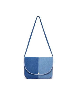 logged on laptop bag - denim