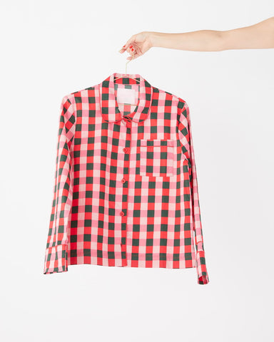 Long Sleeve Leisure Shirt - Buffalo Plaid