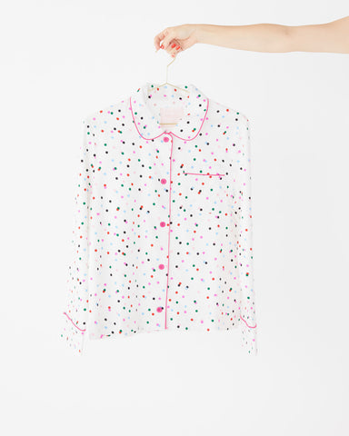 Long Sleeve Leisure Shirt - Party Dots