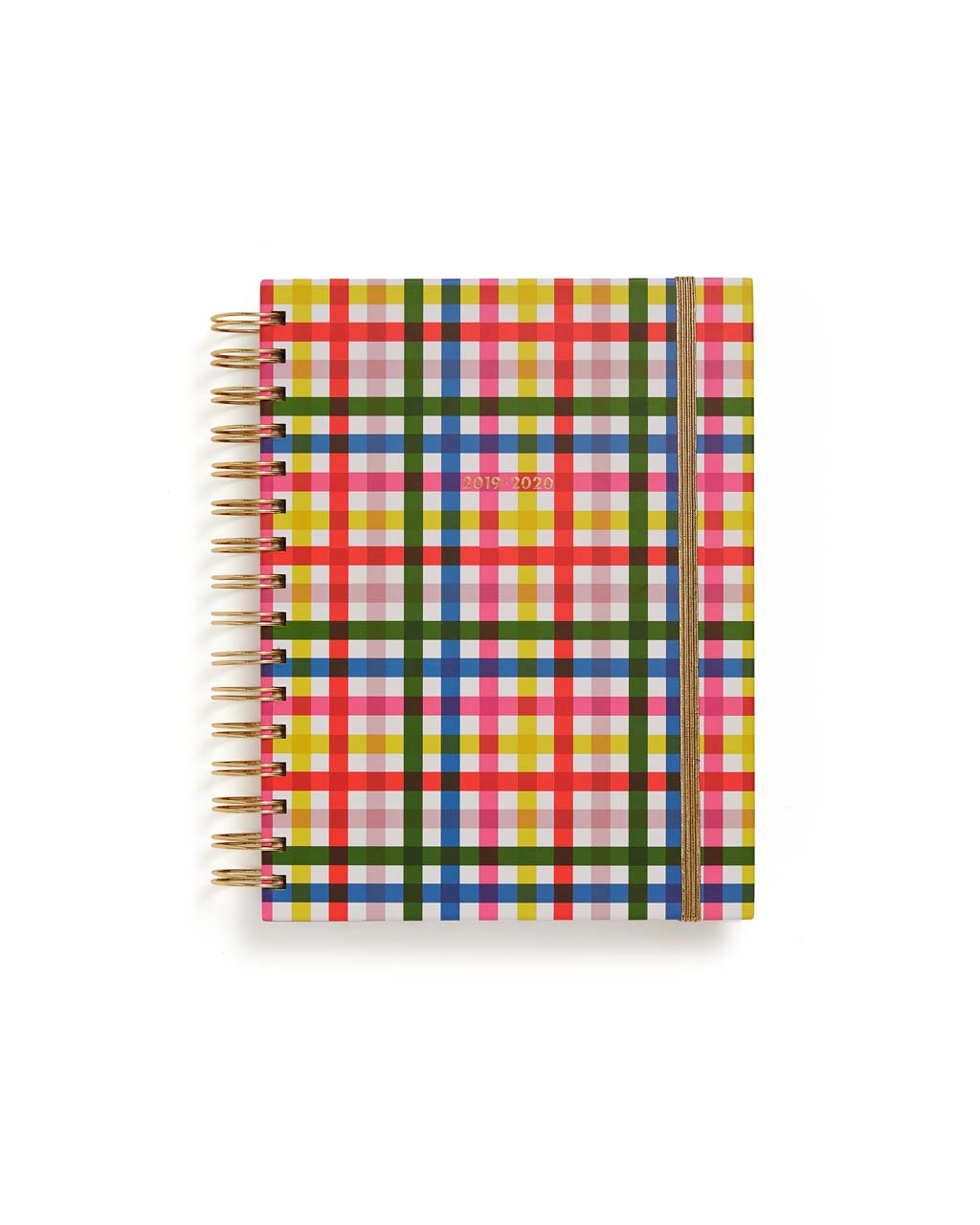 This Medium 17-Month Annual Planner comes in a rainbow-plaid design.