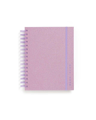 This Medium 17-Month Annual Planner comes in a glittery-lilac design.