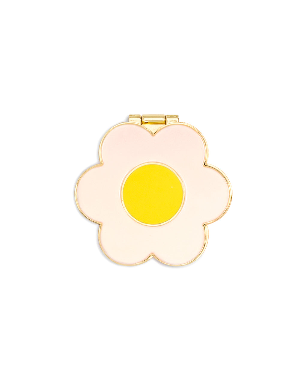 The Lookin' Good Compact Mirror comes in a cute white daisy design.