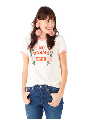 no drama club ringer tee