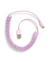 This On The Line Charging Cord comes in a lilac purple color.