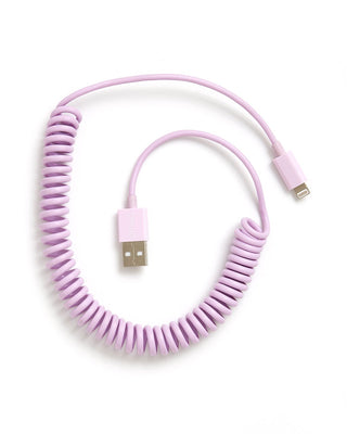 on the line charging cord -  lilac