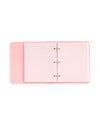 3 ring binder paper pack - pink grid