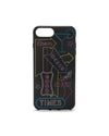 This iphone case comes in black, with neon sign art printed on the face.
