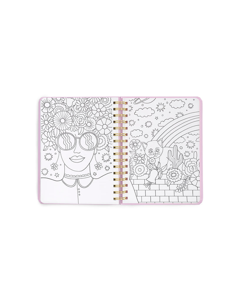 medium 13-month planner - pearlescent