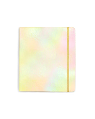 2019 12-month 3-ring binder planner - gold holographic