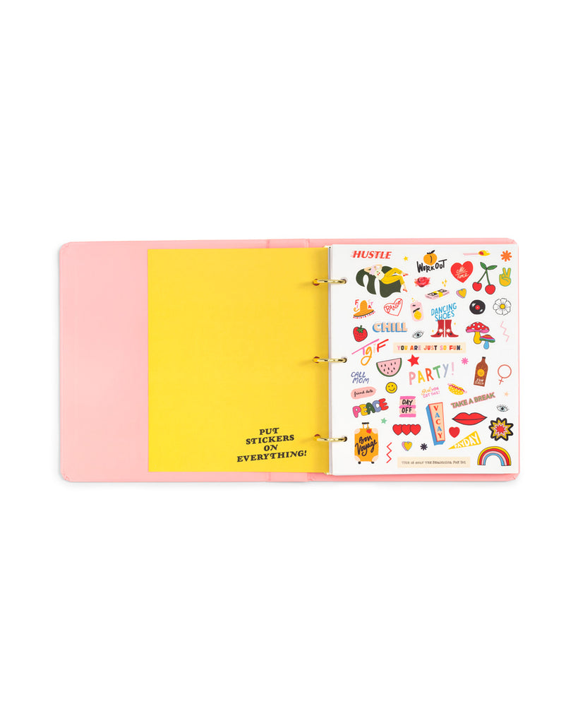 2019 12-month 3-ring binder planner - i am very busy