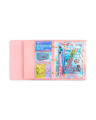 3 ring binder pouch set - pearlescent