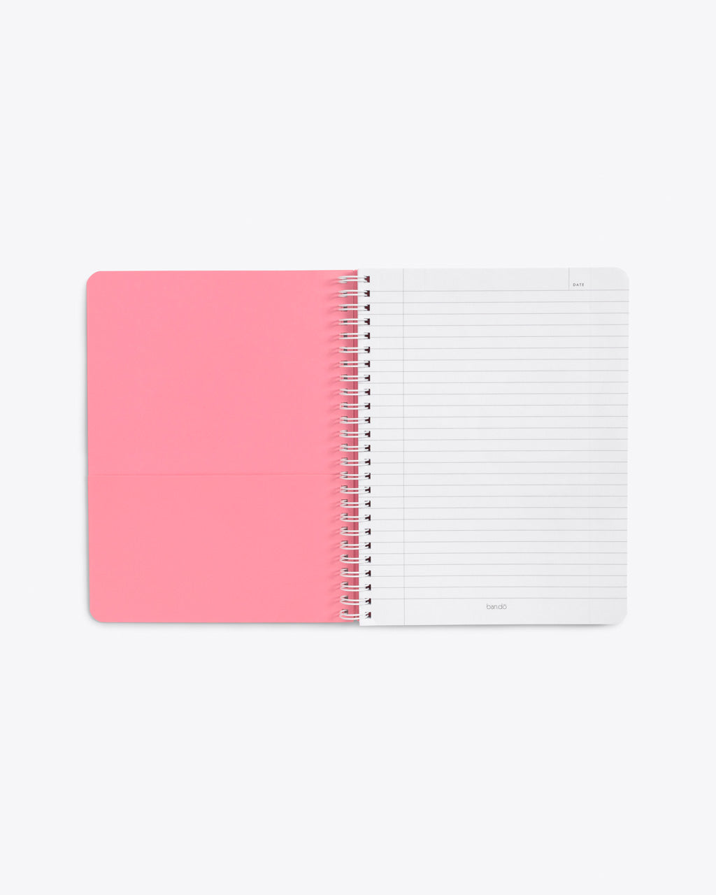 interior image of pink pocket sheet and lined page