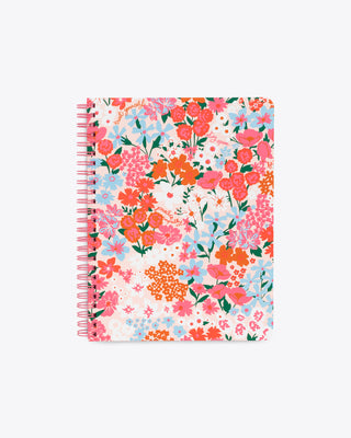 multi color floral pattern notebook