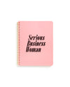 rough draft mini notebook - serious business woman