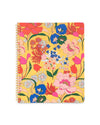 Large notebook with yellow floral pattern cover