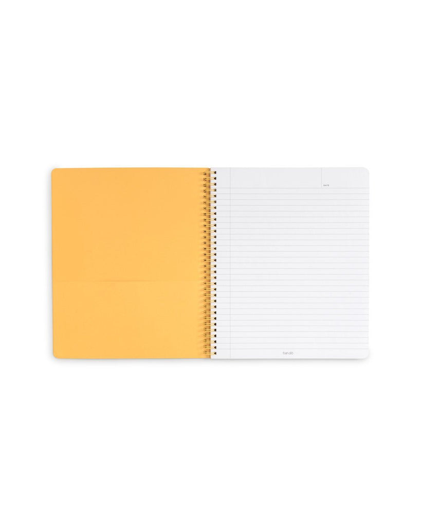 Double-sided pocket page and 160 lined, perforated pages