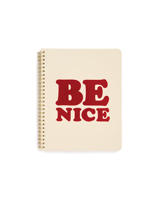 rough draft mini notebook - be nice