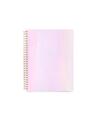 This Rough Draft Notebook comes in a shiny pearlescent design.
