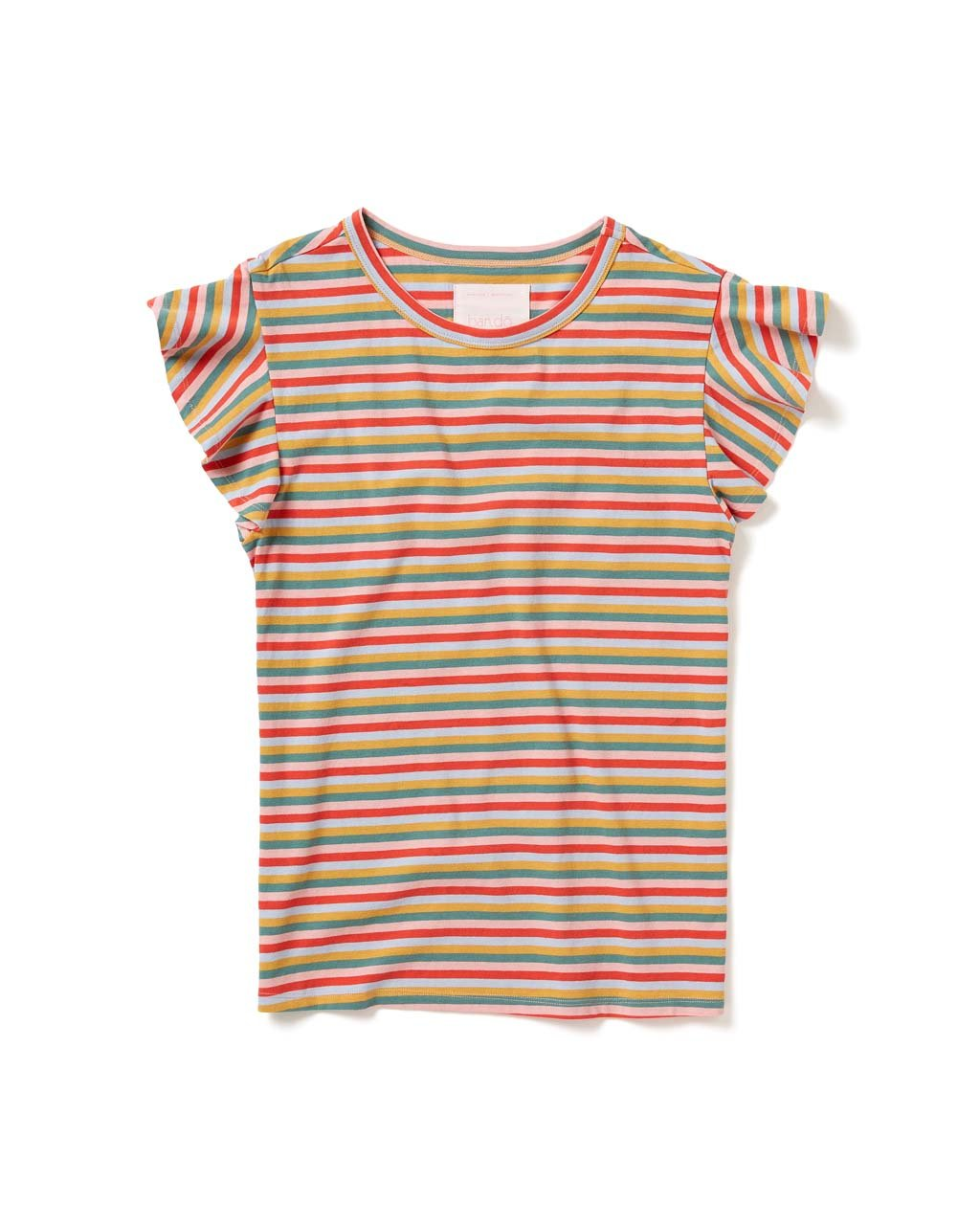 Mini Vintage Stripe Striped Ruffle Tee