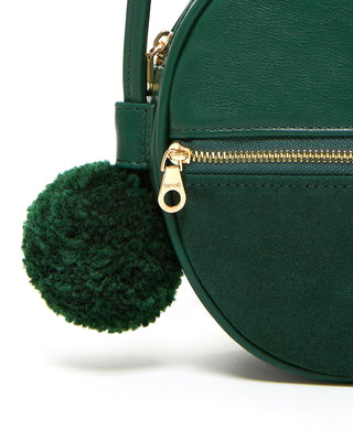 shopthelook_sidekick crossbody circle bag - evergreen
