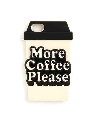 silicone iphone 7 case - more coffee please