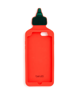 silicone iphone plus case - hot sauce
