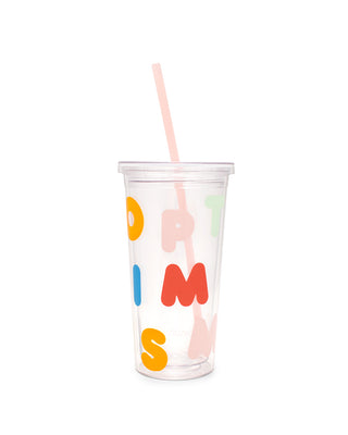 sip sip tumbler with straw - optimism