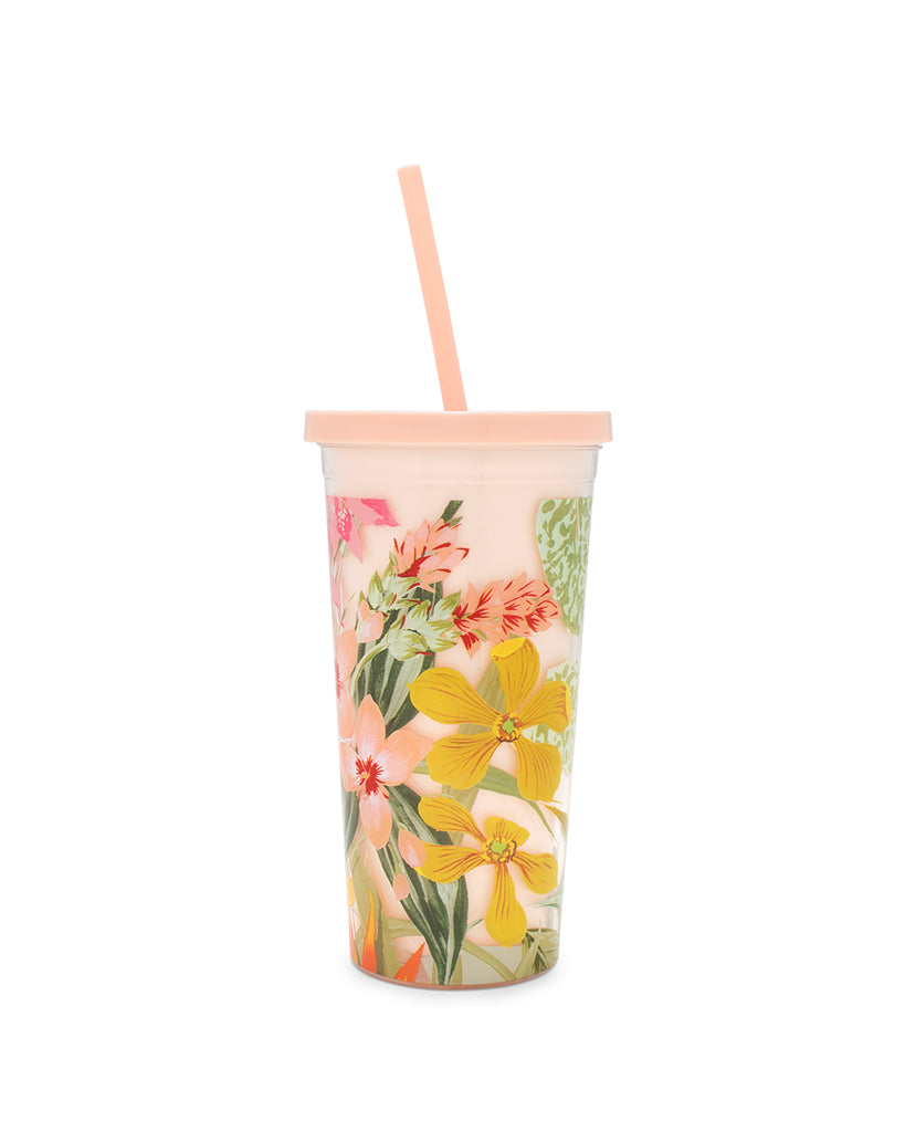 sip sip tumbler with straw - paradiso