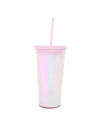 This Sip Sip Tumbler comes in a shiny pink pearlescent design.