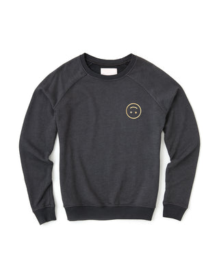 smiley sweatshirt - black