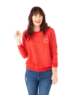 smiley sweatshirt - red
