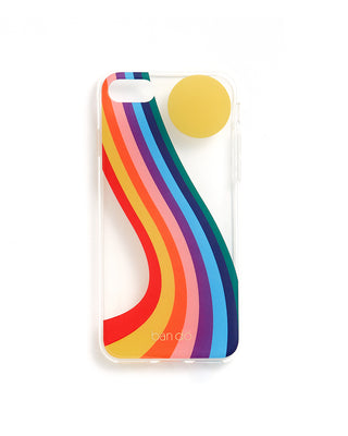 soft plastic iphone 7 case - boogie daze, clear