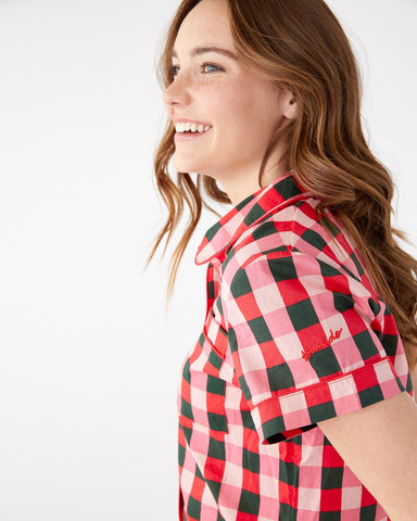 Short Sleeve Leisure Shirt - Buffalo Plaid