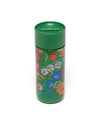 Double-walled and insulated stainless steel thermal mug with hard plastic lid