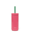 16oz capacity stainless steel tumbler with straw