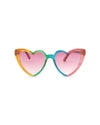 These sunglasses feature heart-shaped frames.