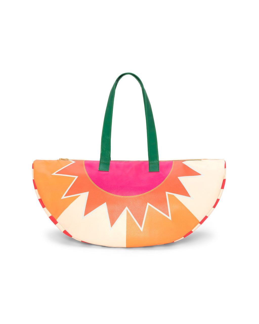 Leatherette shaped cooler bag with bright design